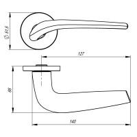Ручка Armadillo TWIN URS CP-8 Хром