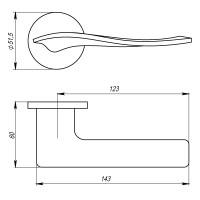 Ручка Armadillo AQUA URS BPVD-77 Вороненый никель