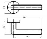 Ручка Armadillo CUBE URB3  SN/White-19 Матовый никель/белый
