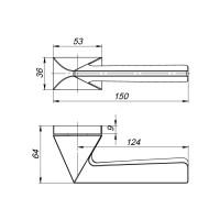 Ручка Armadillo IRON UCS BPVD-77Вороненый никель
