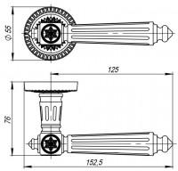 Ручка Armadillo Matador CL4-AS-9 Античное серебро