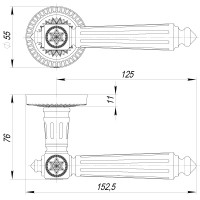 Ручка Armadillo Matador CL4 СР Хром