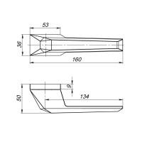 Ручка Armadillo STONE UCS BL-26 Черный