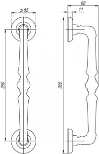 Ручка скоба Fuaro PALAZZO PULL SM RB-10 французское золото