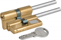 Цилиндровый механизм Kale под вертушку (дл.шток) 164 SX/76 (40+10+26) mm латунь 5 кл.