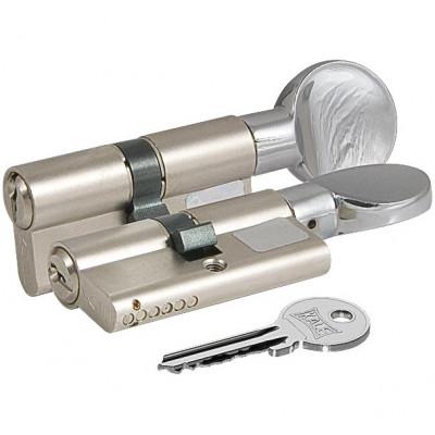 Цилиндровый механизм Kale с вертушкой 164 GM/68 (26+10+32) mm никель 3 кл.