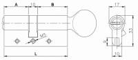 Цилиндровый механизм Kale перекодируемый 164 OBS BME-Z/80 (35+10+35) mm никель 5 кл.+ 2 кл. с вертушкой