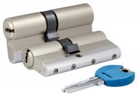 Цилиндровый механизм Kale 164 YGS/90 (45+10+35) mm никель 5 кл.