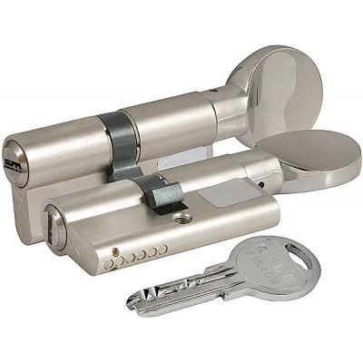 Цилиндровый механизм Kale с вертушкой 164 SM/68 (26+10+32) mm упк.БЛИСТЕР никель 5 кл.
