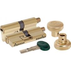 Цилиндровый механизм Mottura c вертушкой C31F414101RTC5 (82 мм/36+10+36), ЛАТУНЬ (PVD) (верт. 99.506)