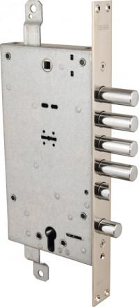 Замок Mottura врезной двухсистемный 54.797 D правый ключ 40 мм