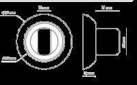 Фиксатор, накладка сантехническая Morelli MH-WC COF кофе