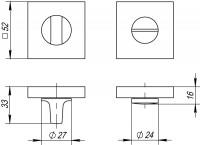 Фиксатор, накладка WC Fuaro BK6 DM CP-8 хром