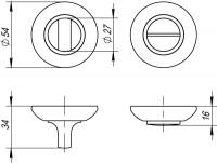 Фиксатор, накладка WC Fuaro BK6 RM CP-8