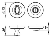 Фикстаор, накладка WC Fuaro BK6 SM AS-3 античное серебро