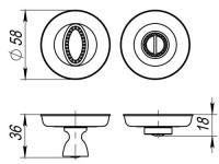 Фиксатор, накладка WC Fuaro BK6 SM RB-10 французское золото