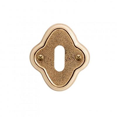 Накладка Val de Fiori под сув. ключ к ручкам Амуаж и Аморе, латунь блестящая с эмалью, OB 73 PB/I