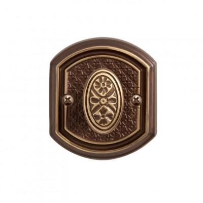 Завертка Val de Fiori к ручке Ризарди, бронза шоколадная, BK 71 CB