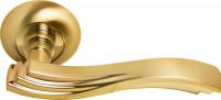 Ручка дверная Morelli Мираж MH-14 SG/GP матовое золото/золото