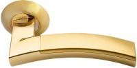 Ручка дверная Morelli Древо жизни MH-12 SG/GP матовое золото/золото