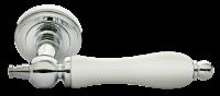 Ручка Morelli MH-42 Classic PC W хром, белая керамика