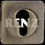 Накладка квадр. на цилиндр RENZ, ET 02 AB, бронза античная