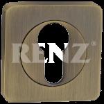 Накладка квадр. на цилиндр RENZ, ET 02 MAB, бронза ант. матовая