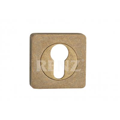 Накладка квадр. на цилиндр RENZ, ET 02 OB, бронза состаренная