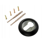 Накладка на цилиндр РЕНЦ ET (N) 08 B/CP чёрный/ хром бл