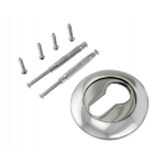 Накладка на цилиндр РЕНЦ ET (N) 08 W/CP белый/ хром бл