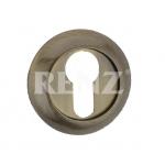 Накладка на цилиндр к ручкам RENZ, ET (N) 08 AB, бронза ант.