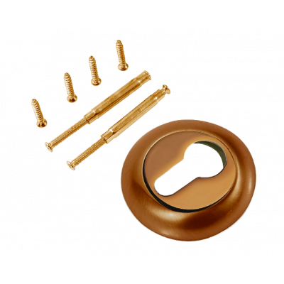 Накладка на цилиндр к ручкам RENZ, ET (N) 08 PCF, кофе блестящий