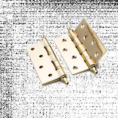 Петля латунная Renz 100*70*3, 4 подшипника, с колпачком, латунь бл.