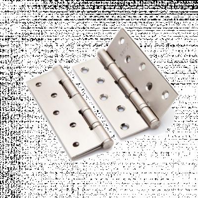 Петля латунная Renz 125*70*3, 4 подшипника, никель мат.
