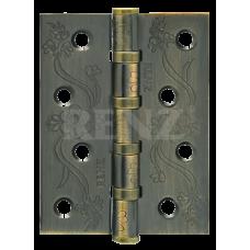 Петля стальная декор RENZ 100*75*2,5, FL 4 подшипника , бронза