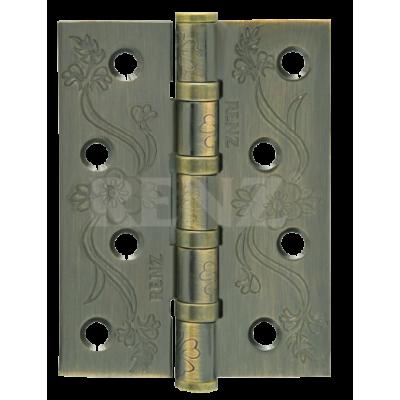 Петля стальная декор RENZ 100*75*2,5, FL 4 подшипника , бронза античная матовая