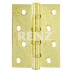 Петля стальная декор RENZ 100*75*2,5, FL 4 подшипника латунь матовая