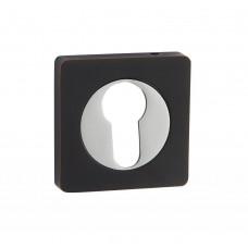 Накладка на цилиндр Vantage ET02BL/CP черный/хром