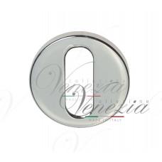 Накладка дверная круглая под ключ буратино Venezia Unique KEY-30 (серия SLIM) полированный хром