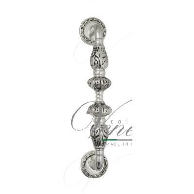 Ручка скоба Venezia LUCRECIA  D2 натуральное серебро + черный
