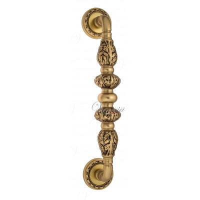 Ручка скоба Venezia LUCRECIA D2 французское золото + коричневый