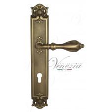 Ручка Venezia ANAFESTO CYL на планке PL97 матовая бронза