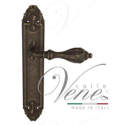 Ручка Venezia ANAFESTO на планке PL90 античная бронза