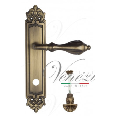 Ручка Venezia ANAFESTO WC-4 на планке PL96 матовая бронза
