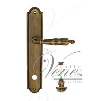Ручка Venezia ANNETA WC-4 на планке PL98 матовая бронза