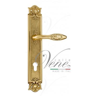 Ручка Venezia CASANOVA CYL на планке PL97 полированная латунь