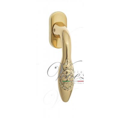 Ручка Venezia CASANOVA оконная FW полированная латунь