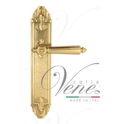 Ручка Venezia CASTELLO на планке PL90 полированная латунь