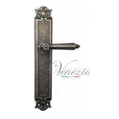 Ручка Venezia CASTELLO на планке PL97 античное серебро