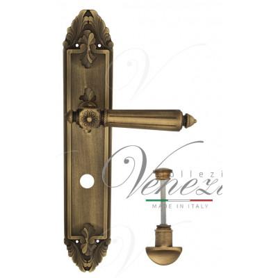 Ручка Venezia CASTELLO WC на планке PL90 матовая бронза
